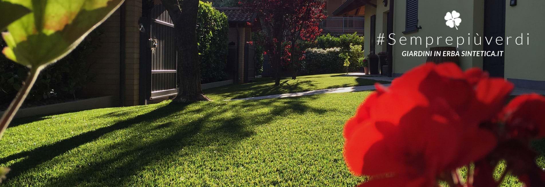 Giardini in erba sintetica prato artificiale bergamo - Erba artificiale per giardini ...